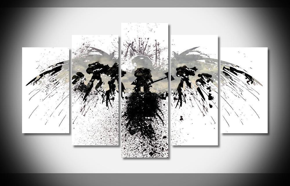2018 7199 Warhammer 40k Poster Wood Framed Gallery Wrap Art Print ...
