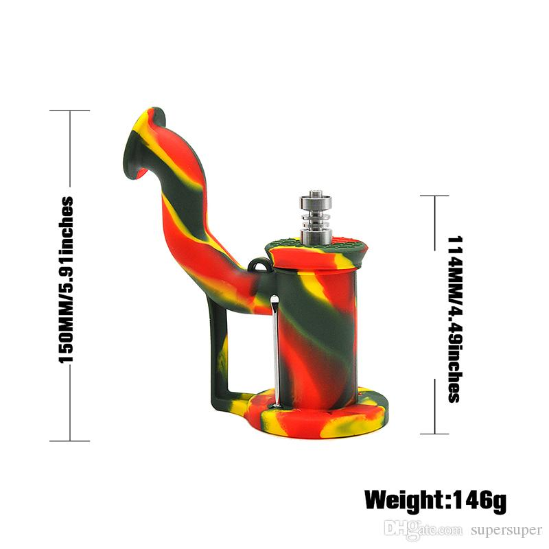 Newest Silicone Water Bongs Smoking Hookah Pipes Concentrate Oil Dab Rig Dry Herb Wax Dabbing Bong By DHL