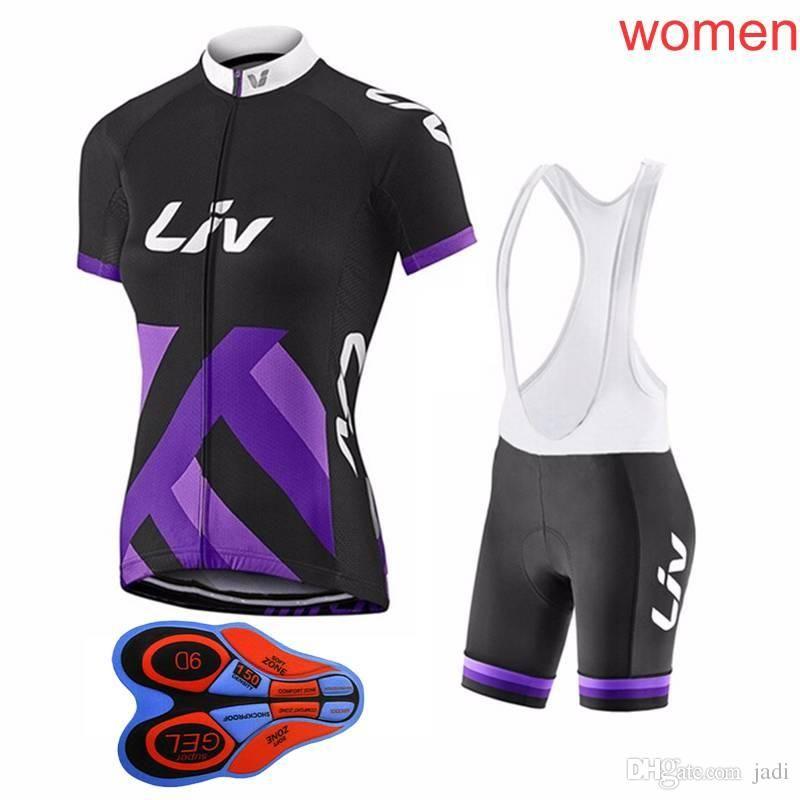 2018 Women Liv Mountain Racing Bike Clothing Set Breathable Bicycle ... 989b0d17c