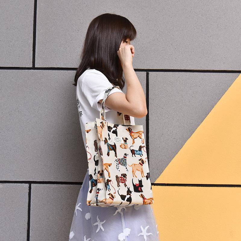 2017 новый хозяйственная сумка девушка покупки тотализатор хлопок продуктовый мешок Женщины сумки вещи мешок большое пространство милый собака поддержки