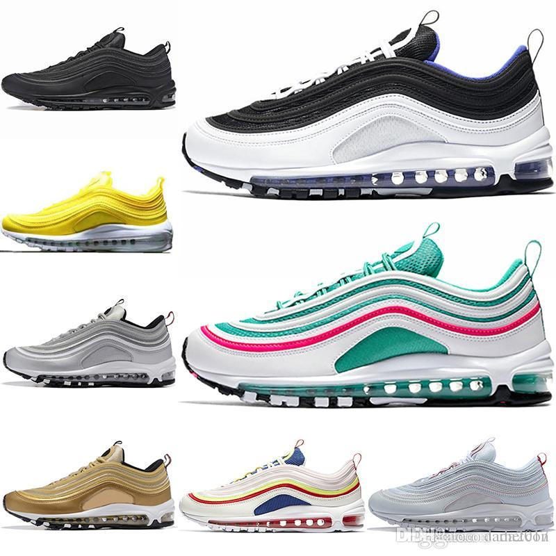 563ca412d99 97 Shoes 2018 Running Shoes for Mens Womens Undefeated 97 Silver Bullet  Designer Sneakers 97s Breathable Zapatos Men Women Air Shoe Sports Running  Shoes 97 ...