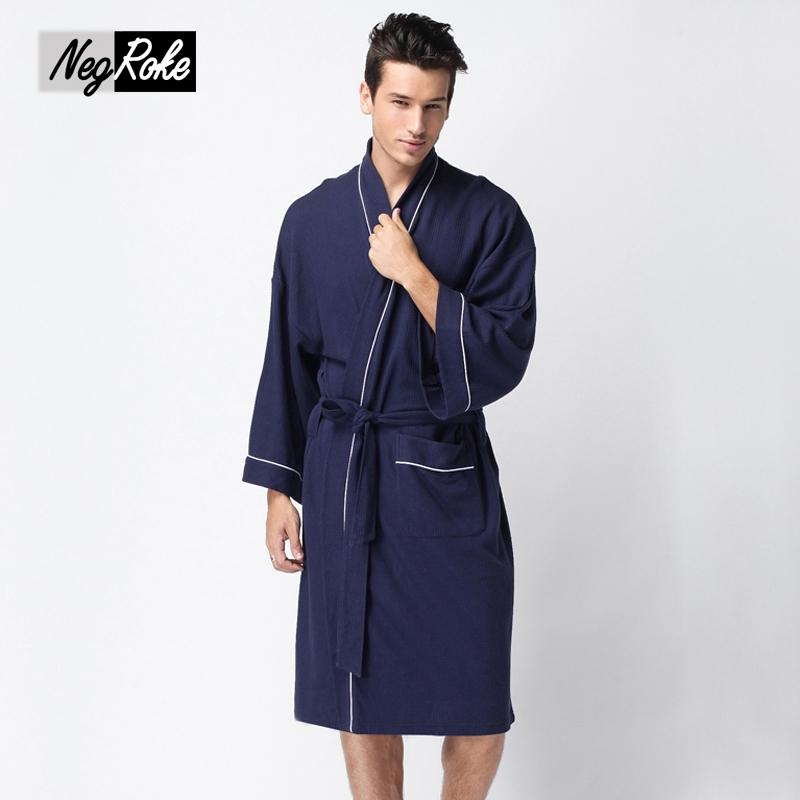 7a44fe6546 2019 Hot Sale 100% Waffle Cotton Long Sleeve Couples Bathrobes Simple  Hotels SPA Robes For Male Solid Color Sauna Robes Men Plus Size From  Extend38