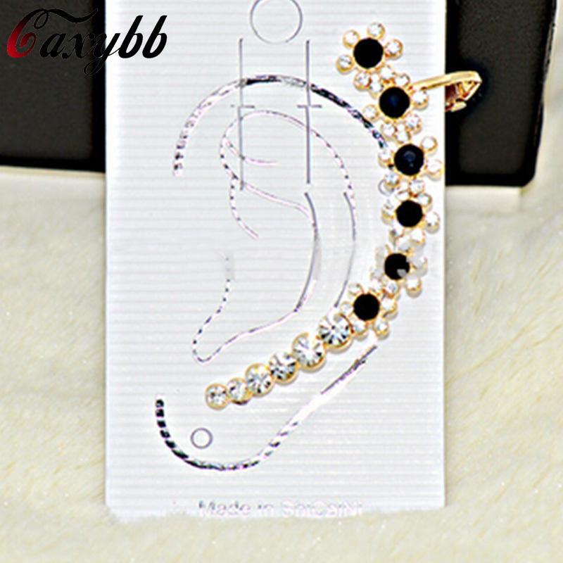 Corea del oído de cristal colorido clip de la joyería del pendiente de la personalidad encantos ear cuffs pendientes para las mujeres joyería YS-c-c23