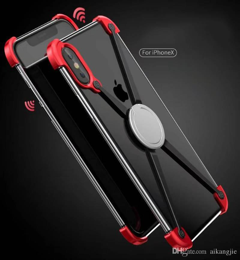 Fashion X Shape Ring Holder case For iPhone X Personality Shell for iPhone X Case Metal Bumper For iPhoneX