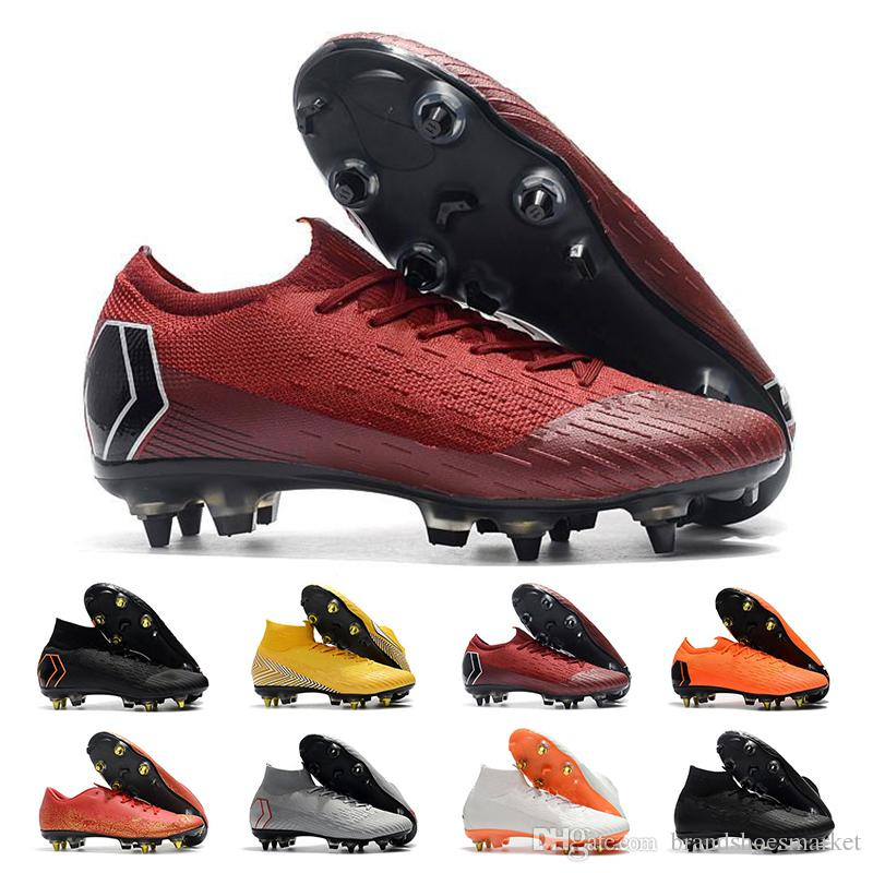 Compre Mercurial Superfly VI 360 Sapatos De Futebol Para Homens CR7 Ronaldo  Neymar Alta 20ª Botas De Futebol Chuteiras Tamanho 39 46 De  Brandshoesmarket f89238c88061c