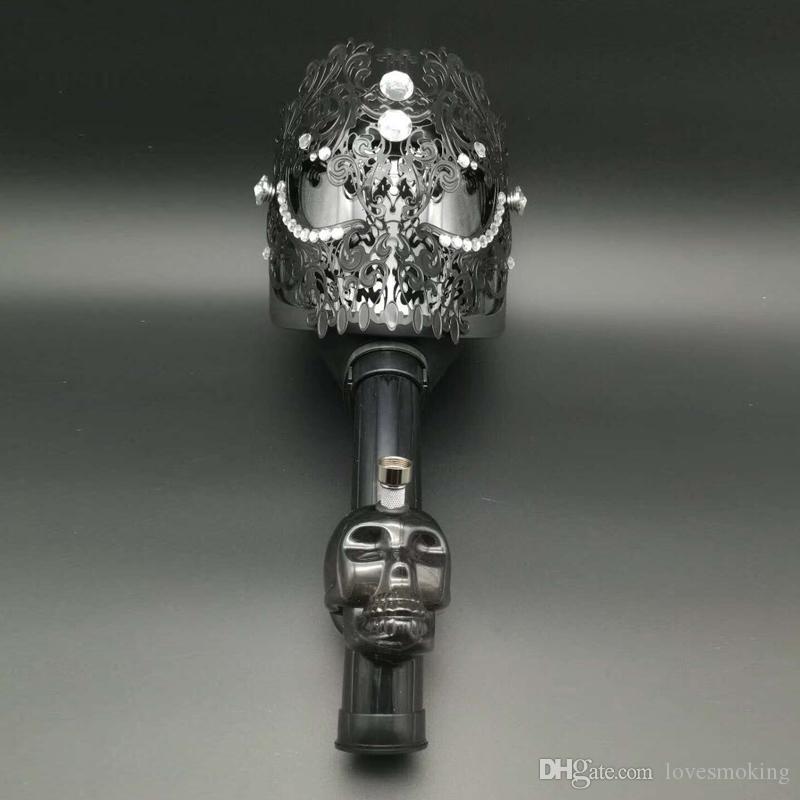 Силиконовые противогаз хищник с акрилом куря трубы воды трубы бонги нефтяной вышке для воды трубы кальян табак трубы Барботеры