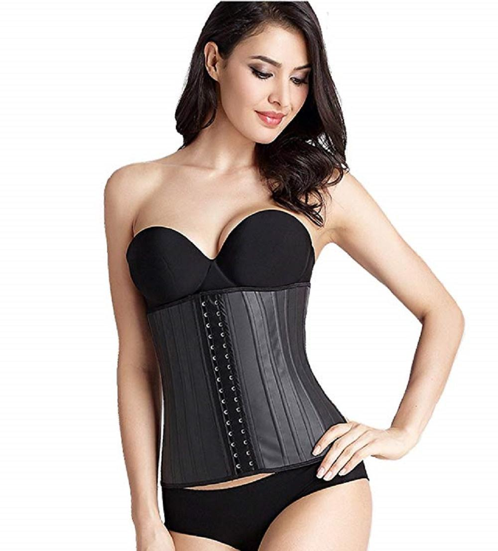 f658969380 Women S Latex Waist Trainer Slimming Cincher Underbust Corsets Training  Tummy Control Body Shaper Long Torso Waist Cincher Vibration Slimming Belt  ...