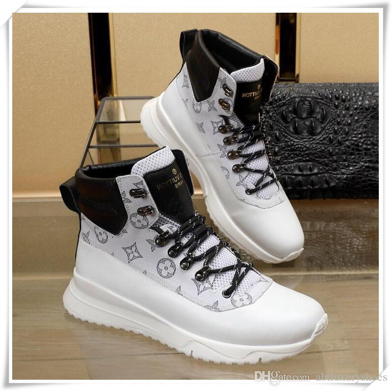 f8e411a6318c00 Luxury Mens Running Sport Shoes Sneakers With Origin Logo France Brand 2018  Winter Warm High Top Fashion Boots Chaussures Pour Hommes Boot Ankle Boots  From ...