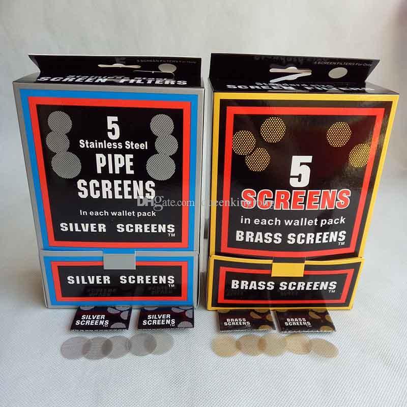 Аксессуары для курения из латуни Экраны из нержавеющей стали Серебристый Золотой цвет 20 мм для металлического табака Ручная сигарета