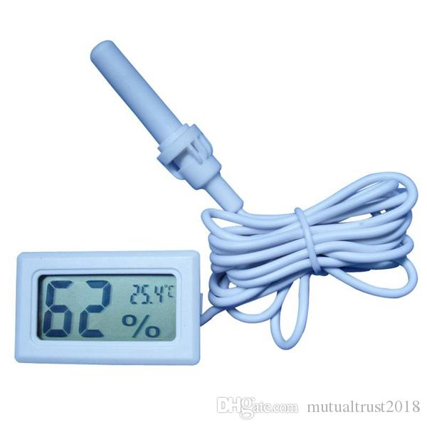 Mini Digital LCD Thermometer Hygrometer Temperature Humidity Meter Gauge Thermometer probe white Black in retail box