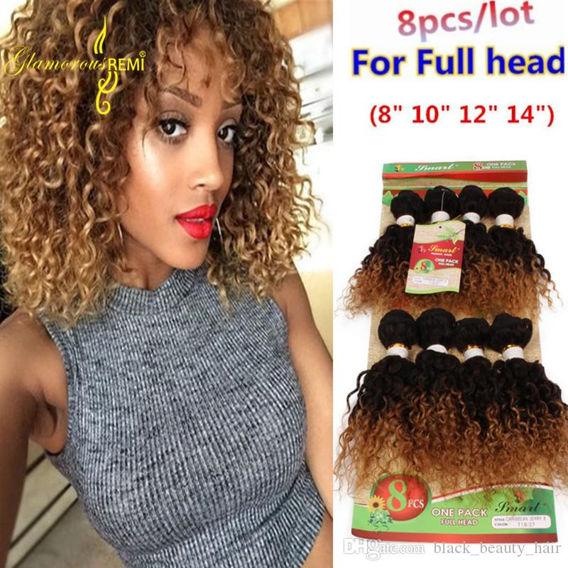Cheap Price Human Hair Wefts Deep Wave Hair Weaving Ombre Brown burgundy  Two Tone Colors 8-14 Inch Virgin Remy Bundles Human Hair Extension Loose  Deep Wave ... 3990642176