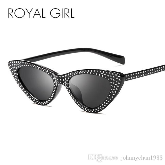 3a5fd71c8b5 ROYAL GIRL 2018 New Rhinestone Cat Eye Sunglasses Women Fashion Small Frame  Red Black White Sun Glasses For Women UV400 Ss339 Sunglasses Sale Kids ...