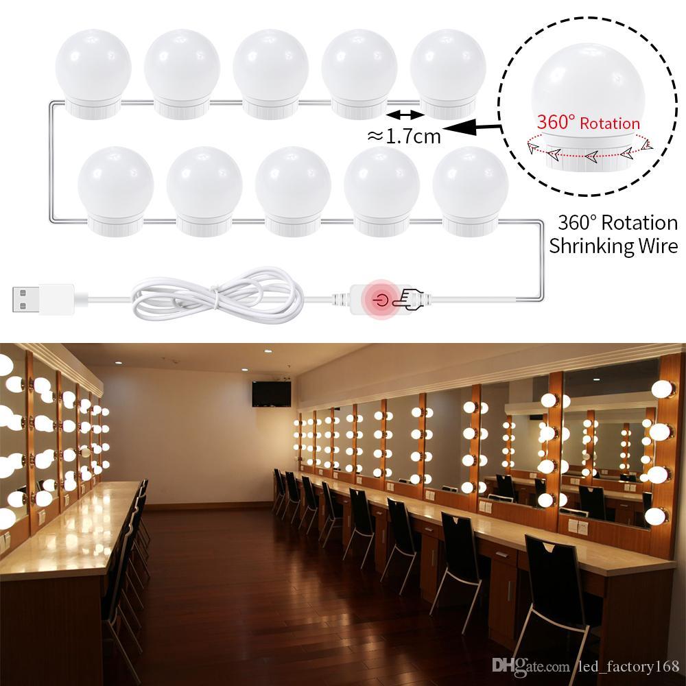 Lights & Lighting Usb Led 12v Makeup Lamp 10 Bulbs Kit For Dressing Table Stepless Dimmable Hollywood Vanity Mirror Light 8w Decoration