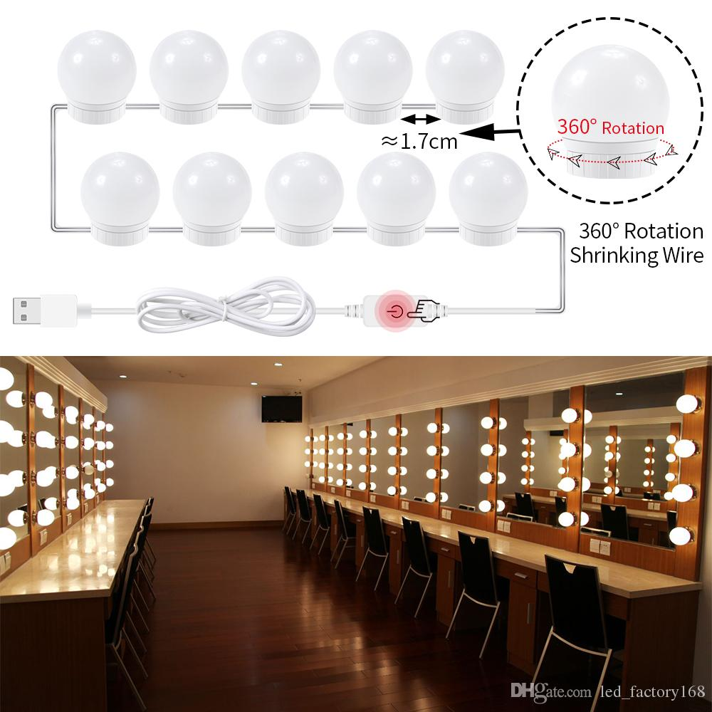 Hollywood Style Led 10w Makeup Mirror Vanity Light Bulbs Usb 12v