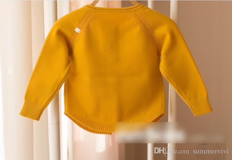Kleinkinder Strickjacke Baby Mädchen Bögen Ananas Applikation Pullover 2018 Frühling Kleinkind Kinder Langarm Outwear Kinder Einreiher Strickjacke C2620