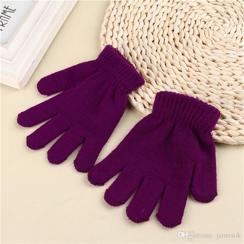 9 Farbe Mode Kinder Kinder Magie Handschuhe Handschuhe Mädchen Jungen Kinder Stretching Stricken Winter Warme Handschuhe TO478
