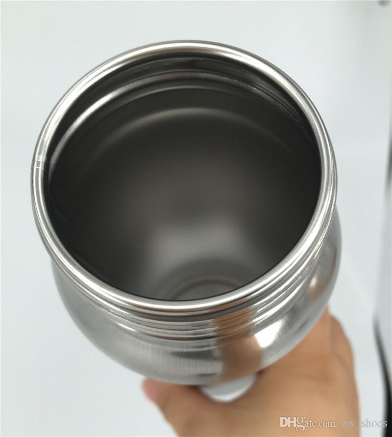 nuova bottiglia d'acqua da 20 once in acciaio inossidabile non isolato BPA Coperchio in paglia gratuito Bottiglia a parete singola ciclisti, corridori, escursionisti