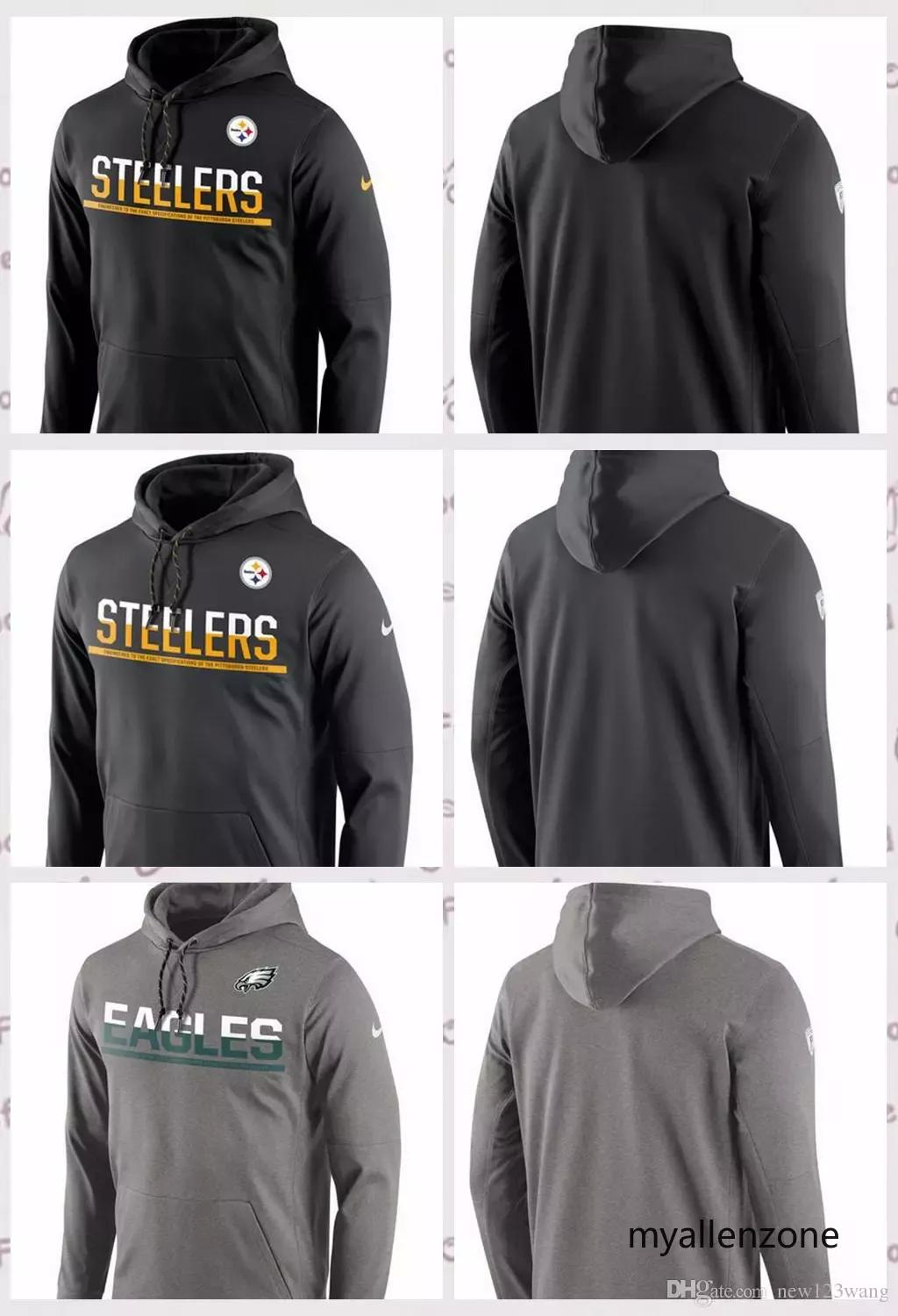 Pittsburgh Steelers Philadelphia Eagles Sideline Circuit Pullover  Performance Hoodie Black Anthracite Gray Online with  68.37 Piece on  Myallenzone8 s Store ... 033542c88