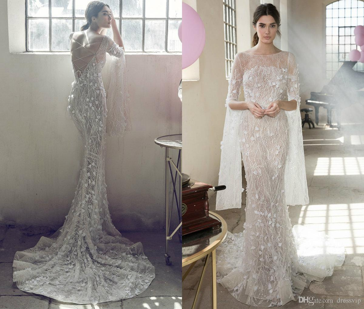 3D Floral Lace Wedding Dress With Sleeves | Kleinfeld Bridal
