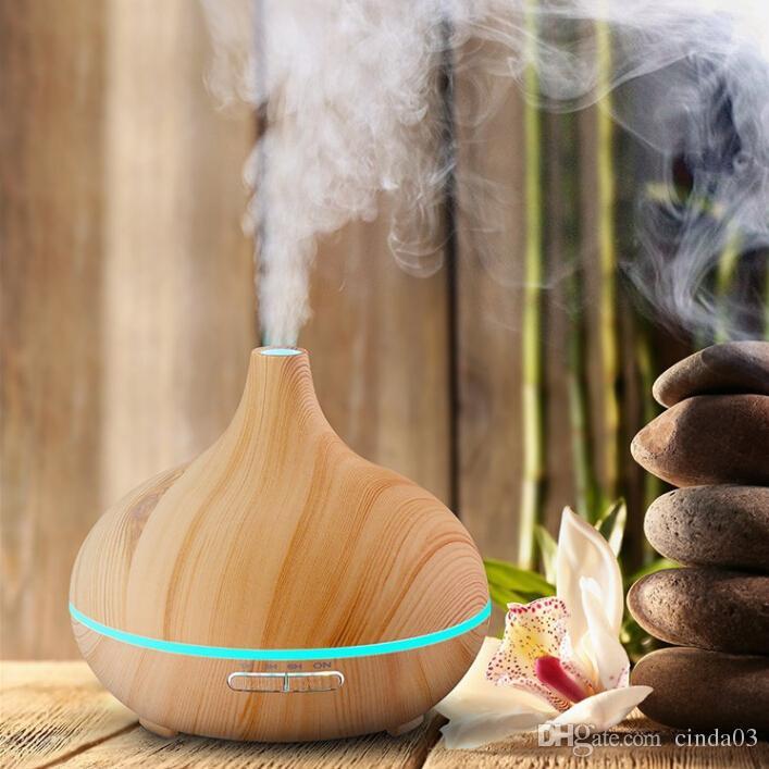 300ml Atherisches Ol Diffusor Holzmaserung Ultraschall Aroma Kuhlen Nebel Luftbefeuchter Fur Buro Schlafzimmer Baby Zimmer Studie Yoga Spa
