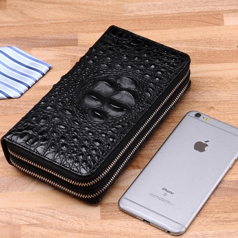 finest selection 07a7d 5e2cb Fashion Men Wallets Crocodile Pattern PU leather Men Clutch bag mobile  phone bag Card Holder wallet Male Purse cigarette case