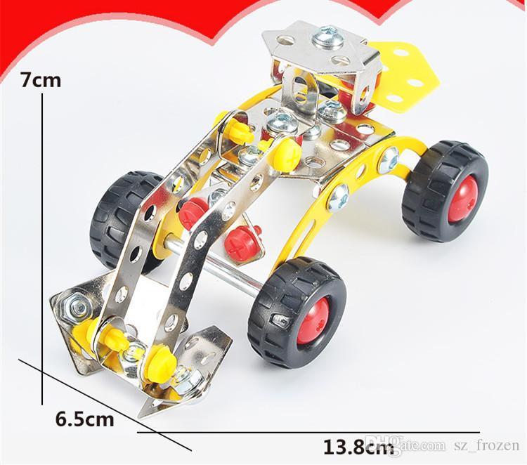 Montagem em 3D de Engenharia de Metal Kits de Veículos Modelo de Brinquedo Escavadeira Carro Escavadora de Rolos Disjuntor Empilhadeira Construção Puzzles Construção Play Set