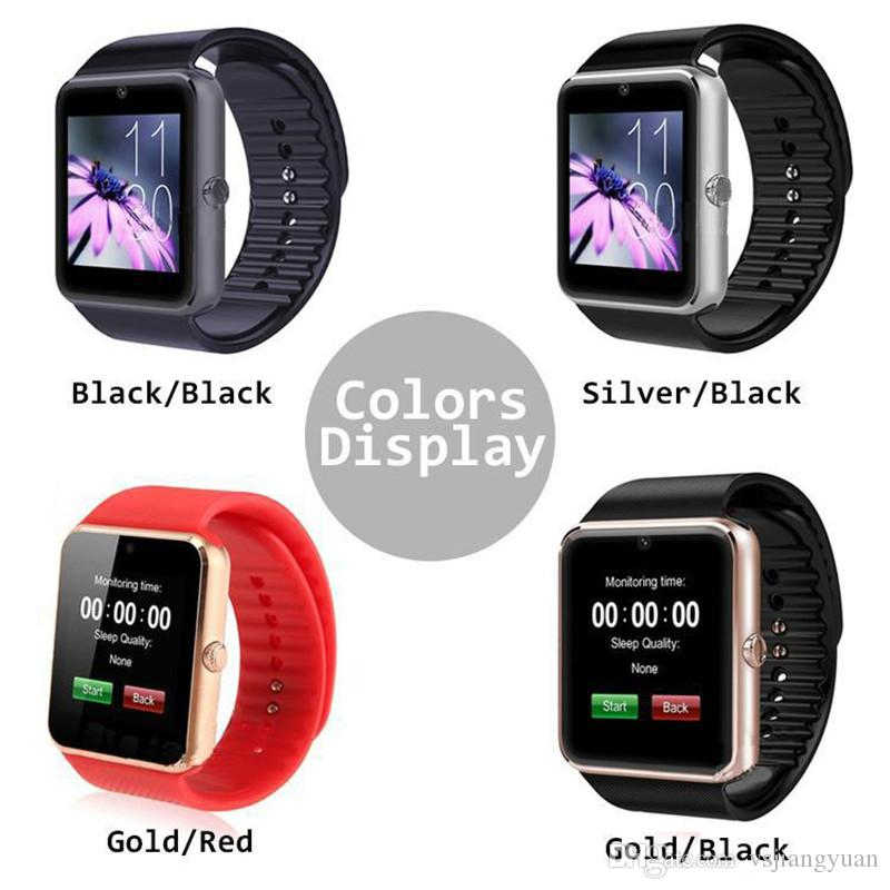 Smart Watch GT08 Bluetooth con ranura para tarjeta SIM y NFC Health Watchs para Android Samsung e IOS Apple iPhone Smartphone Smartwatch gratis DHL