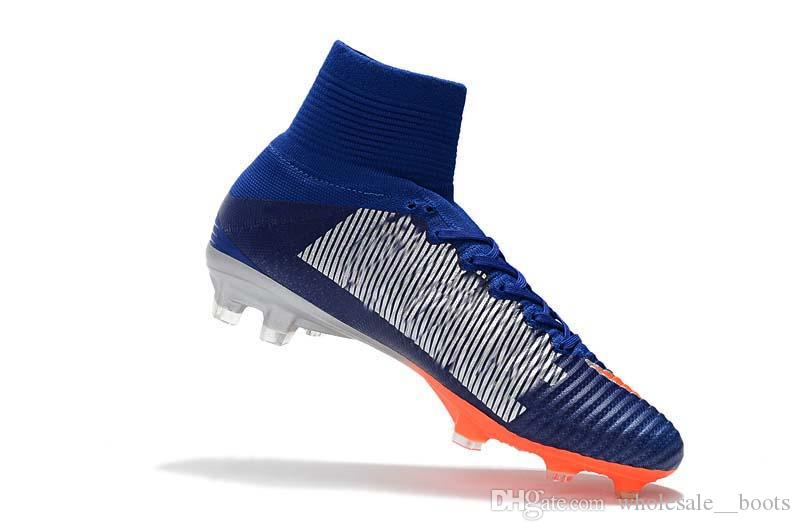 1c5107327 2019 Top Quality 2018 Men Mercurial Superfly CR7 V FG AG Football Boots  Cristiano Ronaldo High Tops Neymar JR ACC Soccer Shoes Soccer Cleats From  ...