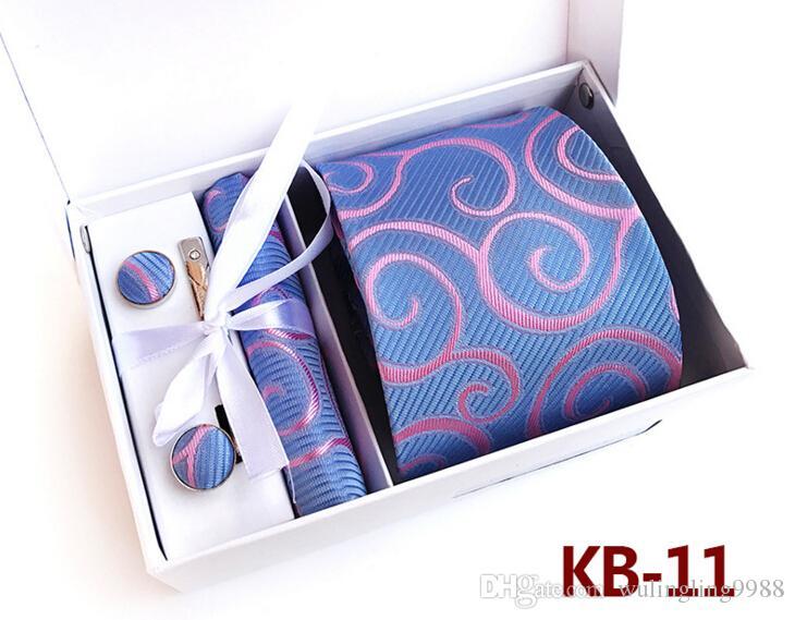 Vente chaude Hommes Cravates Set Top Qualité Paisley Cravate De Mariage Marié Cravates Tuxedo Cravate Set Affaires Cravates Avec Boîte Meilleur Cadeau 15 Couleurs