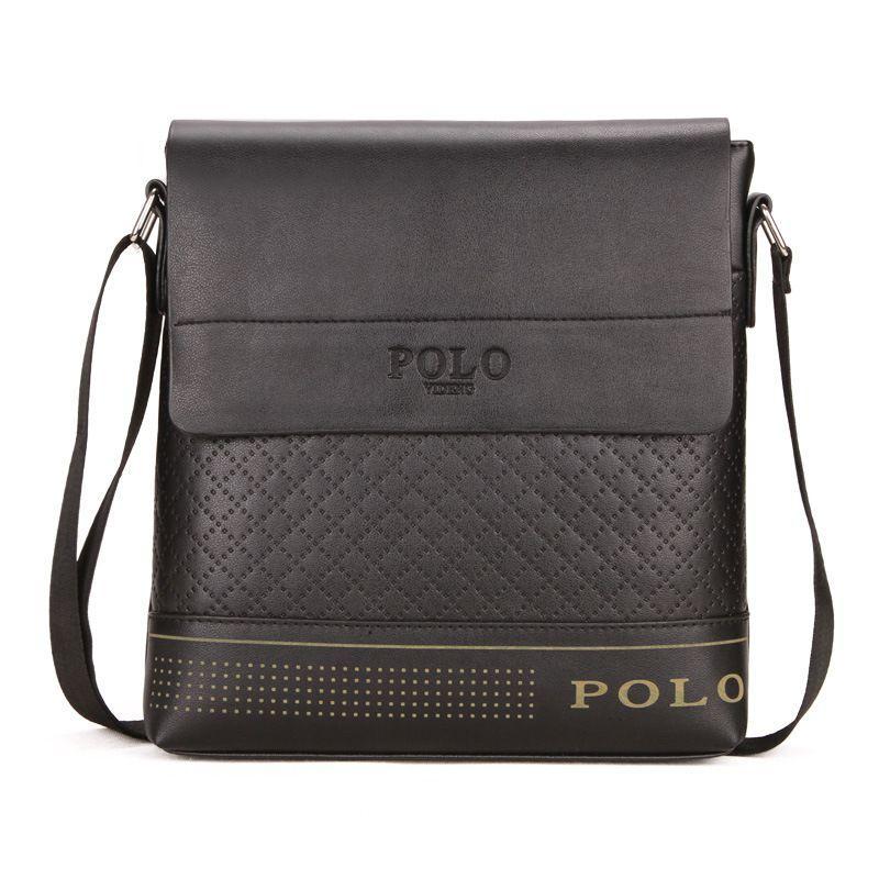 9d77db826679 Famous Brand POLO Men Leather Handbag Fashion Men Messenger Bags ...