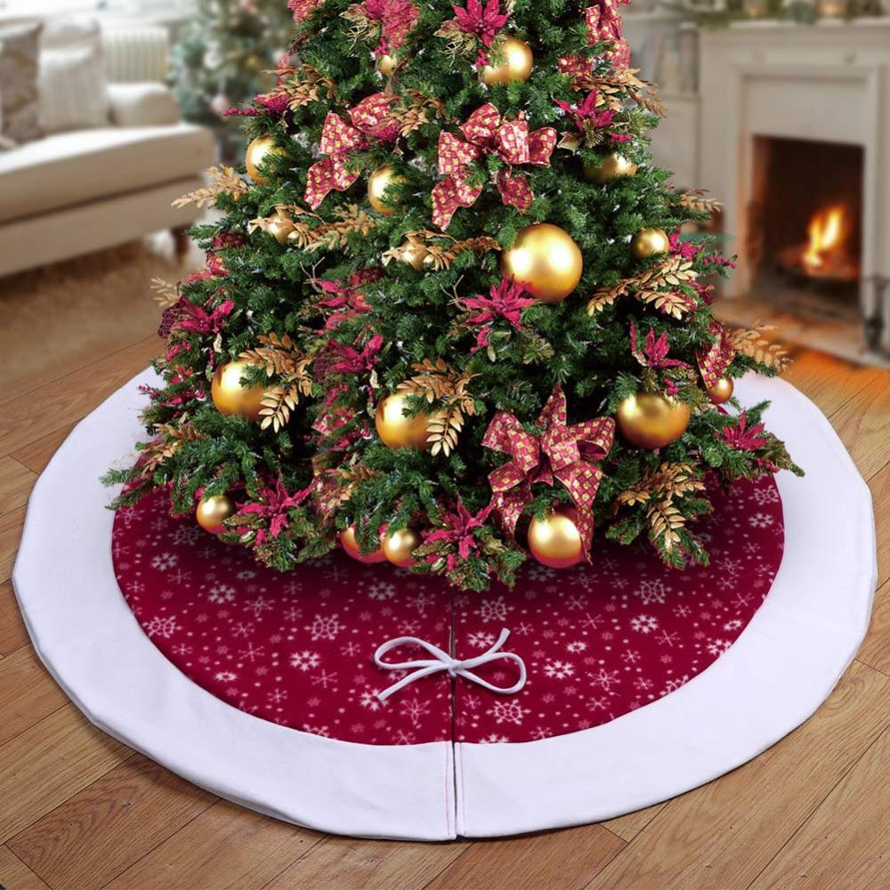 ourwarm 48 inch christmas tree skirt velvet snowflake xmas tree skirt new year 2018 christmas decoration for home christmas discount decorations christmas - Cheap Christmas Tree Skirts