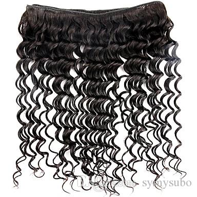 /100g Brazilian Natural Color Deep Wave Hair Extensions 100% Brazilian Human Hair Weave 6a Unprocessed Virgin Brazilian Hair Extension