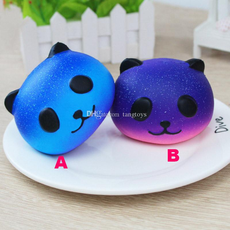 Squishy Panda Hand Squeeze Toys Accesorios para teléfonos Lindo Divertido PU Alivio para el estrés Starry Reduced Pressure Squishi Animals Finger Toys