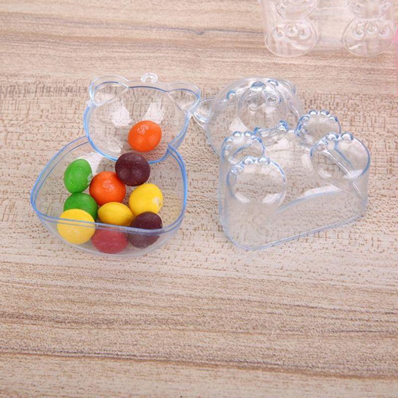 Plastic Cartoon Bear Jewelry Tool PortableStorage Box Case Storage Box Craft Organizer Storage Beads fast shipping F20172903