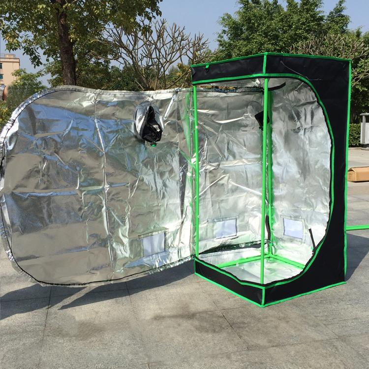 Mylar réfléchissant cultiver la tente Salle des plantes vertes avec une fenêtre d'obéservation et un plateau de plancher pour la croissance des plantes d'intérieur