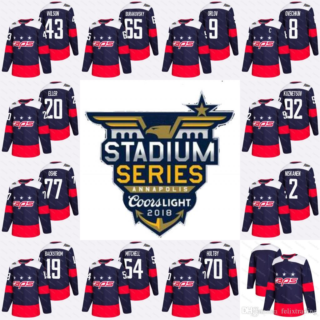 92 Evgeny Kuznetsov 2018 Stadium Series Washington Capitals Tom ... f06934e1e