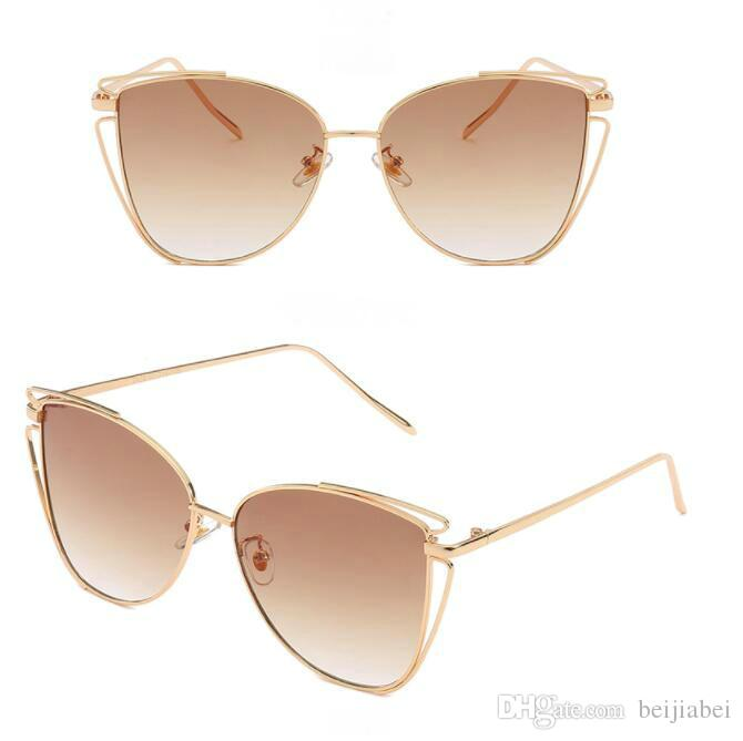 5085b5a124d Metallic Cat S Eye Sunglasses Women S Fashion Sunglasses Hot Selling Sun Glasses  Free Shopping Cool Sunglasses Custom Sunglasses From Beijiabei