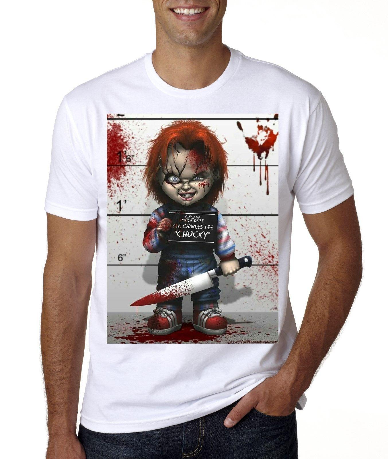 d0eb094a71e56 CHUCKY T-SHIRT SIZES FROM MED -3XL Cartoon t shirt men Unisex New Fashion  tshirt free shipping funny