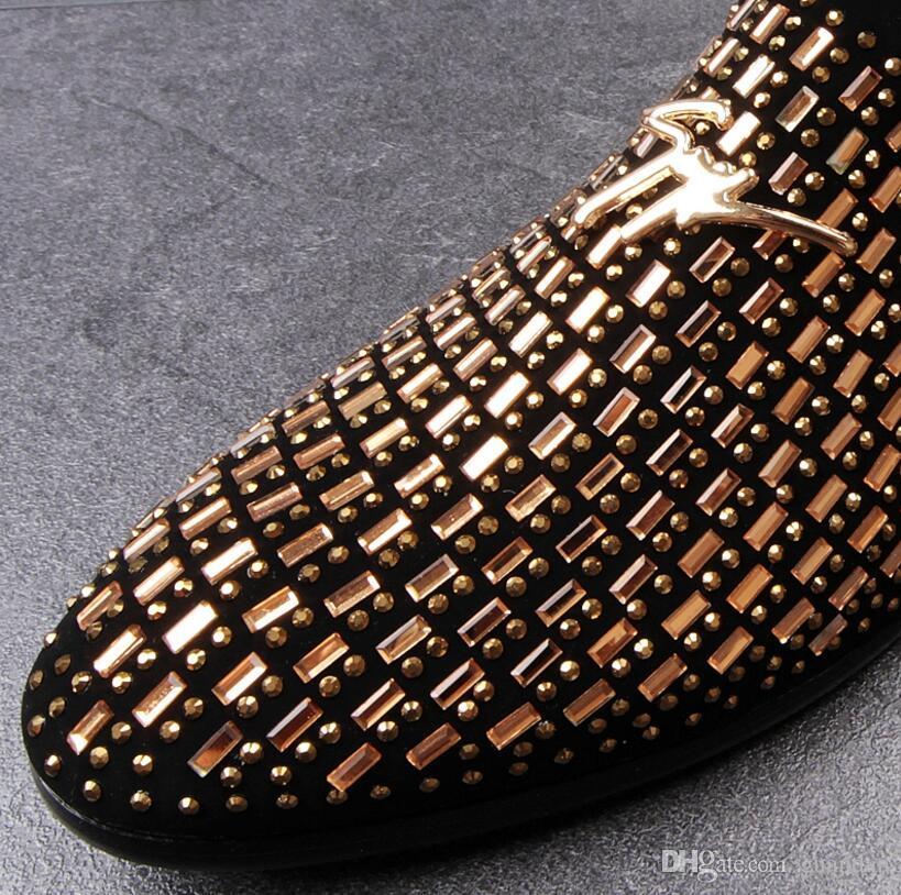 2018 결혼식 신발 맨 점 발가락 드레스 신발 남자 지적 발가락 드레스 신발 디자이너 망 드레스 신발 세트 오거 평지 사무소 DH2N46