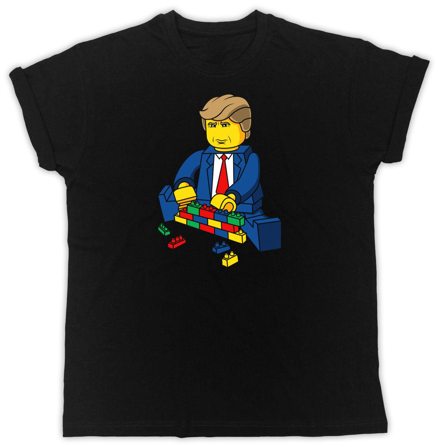 37cca5d016f FUNNY DONALD TRUMP BUILD A WALL LEGO IDEAL GIFT COOL RETRO UNISEX BLACK T  SHIRT Online with  13.72 Piece on Tshirtemperor31 s Store