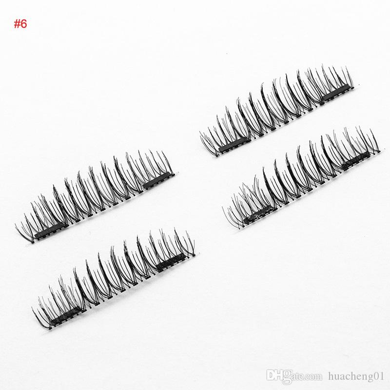 Magnetic Eyelashes 3D Handmade Reusable Magnet False Eyelash Extension Natural Soft Hair Magnet Eye Lashes Top Quality