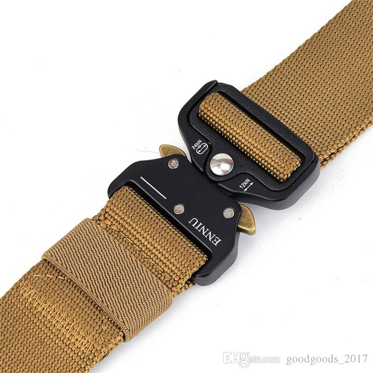 The New ENNIU 3.8CM Quick Release Buckle Belt Quick Dry Outdoor Safety Belt Training Pure Nylon Duty Out Tactical Belt mk417