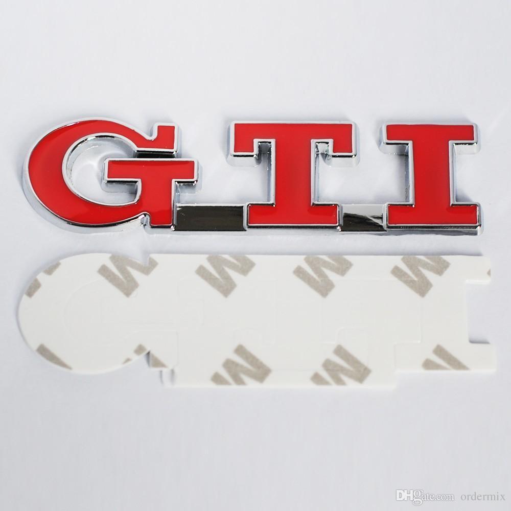 3D Red GTI Etiqueta engomada de la cola del coche de metal Tronco insignia de arranque para VW Polo GTI Auto coche emblema trasero para GOLF MK3 exterior calcomanías de accesorios