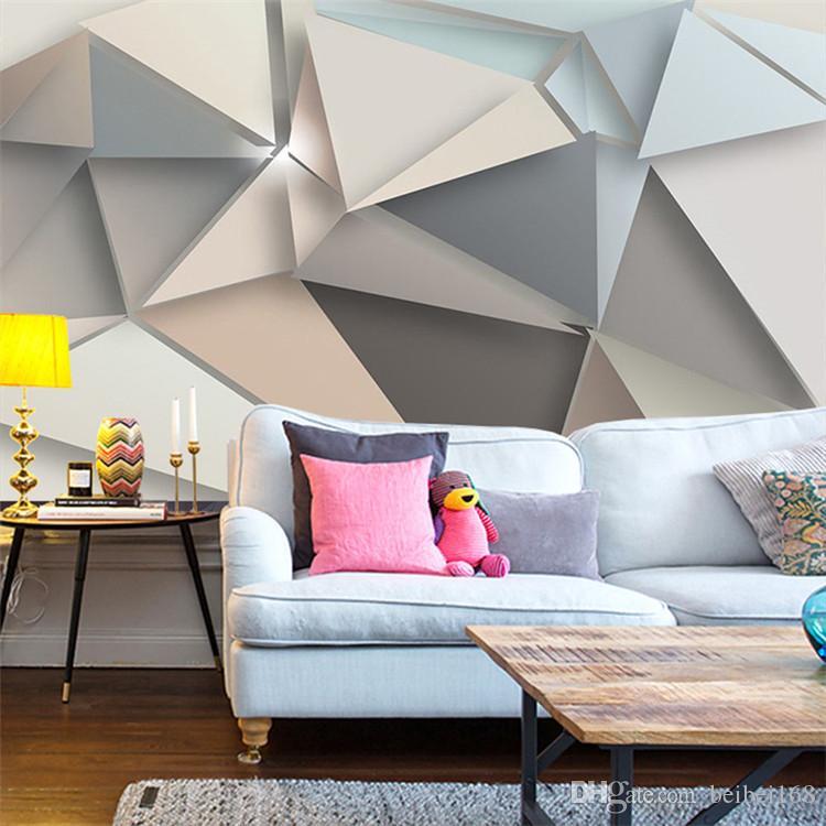 Acheter Personnalisé Photo Papier Peint 3D Moderne TV Fond Salon Chambre  Abstraite Art Mur Mural Géométrique Revêtement Murale Papier Peint De  $25.13 ...
