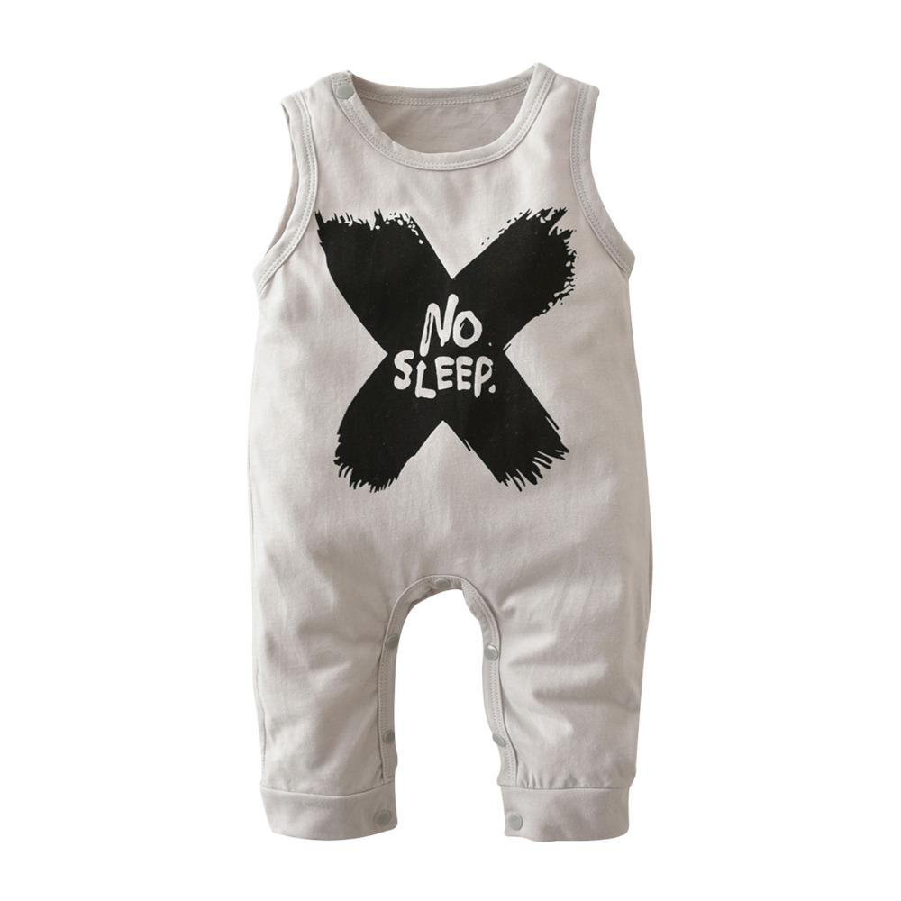 4b2e75399710 2018 Hot Selling Baby Boys Girls Rompers Summer Clothes Sleeveless ...