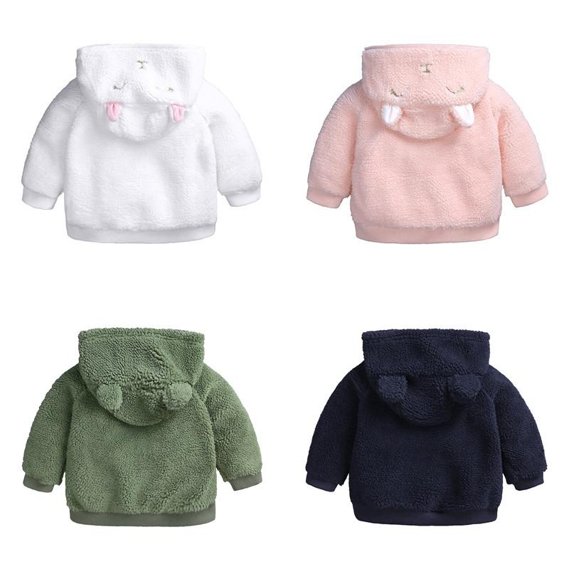 2018 Ins Children Winter Hoodies Cotton Warm Coat Boys Girls Cute