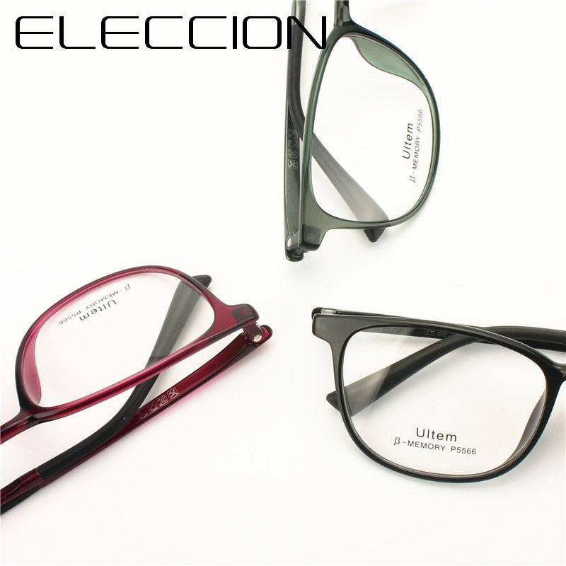 d6151ddbf7 2019 ELECCION High Quality Fashion Lady Glasses Frame Prescription ...