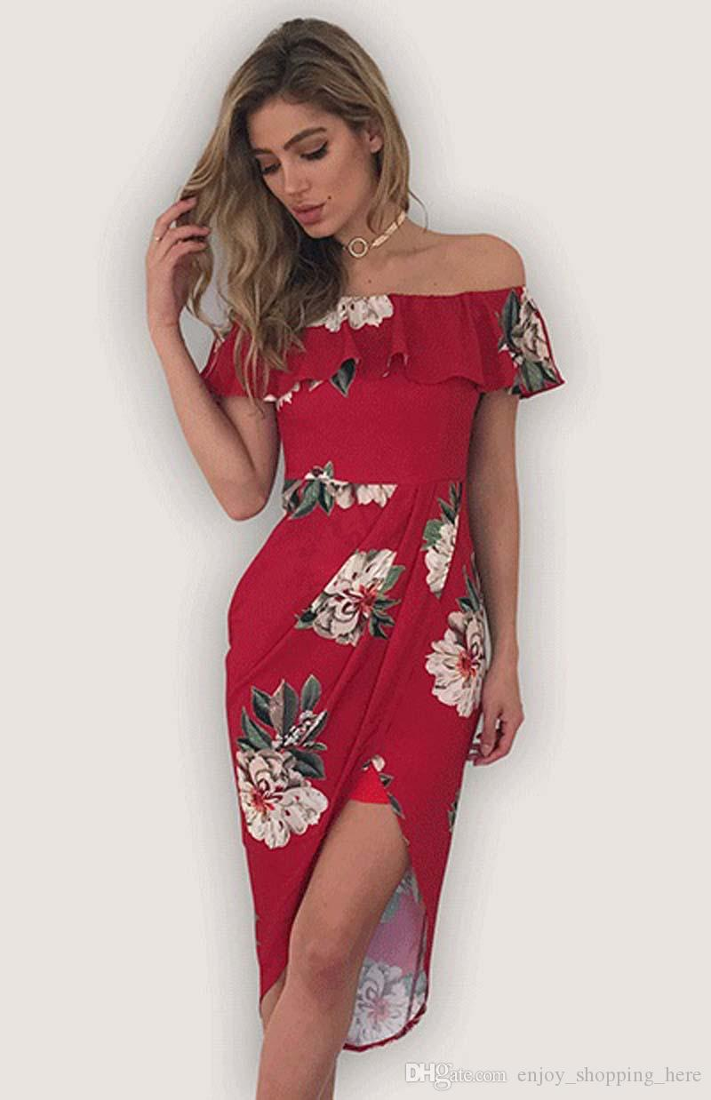 Sexy plus size women clothing Strapless Beach Summer Dress Sundresses Vintage Bohemian Maxi Dress Robe Femme Boho Floral Ruffle off shoulder