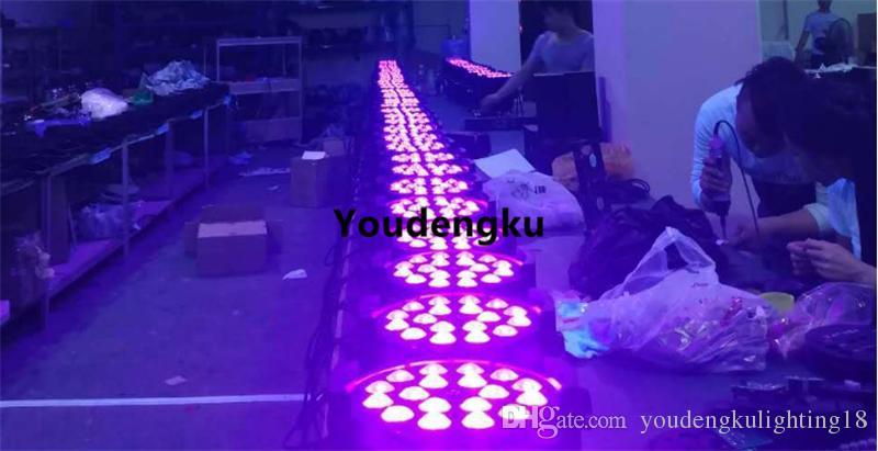 4 piezas de luz par led x 18w par par zoom par led rgbwa uv zoom