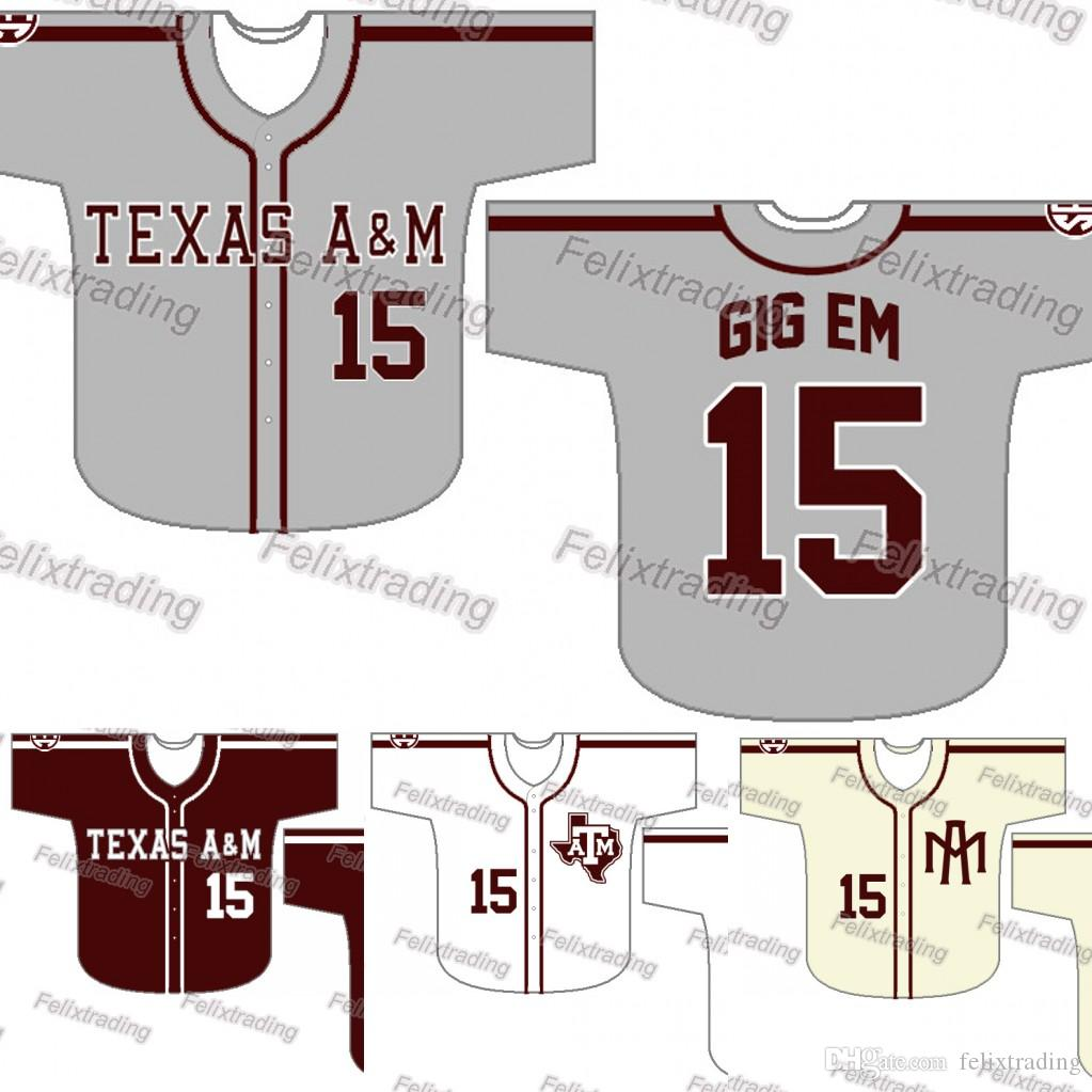 Custom Texas A M Aggies Baseball Jersey Women Youth Men White All Stitched Baseball  Jerseys Fast UK 2019 From Felixtrading 2e073422cf